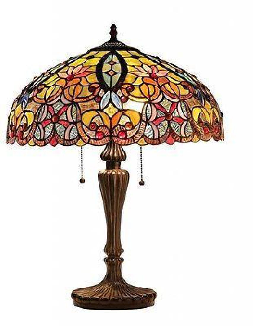 Tiffany Style Table Lamp Stained Glass Desk Art Deco