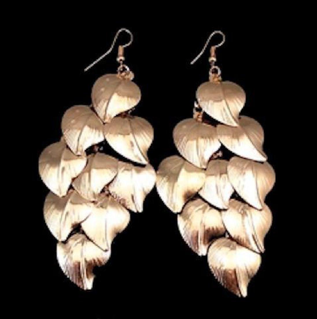 Golden Leaves Chandelier Earrings