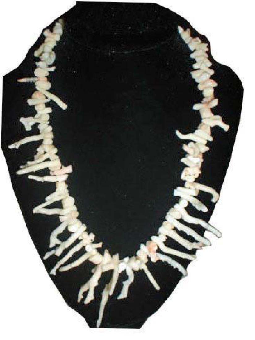 Vintage Angel Skin Branch Coral Necklace