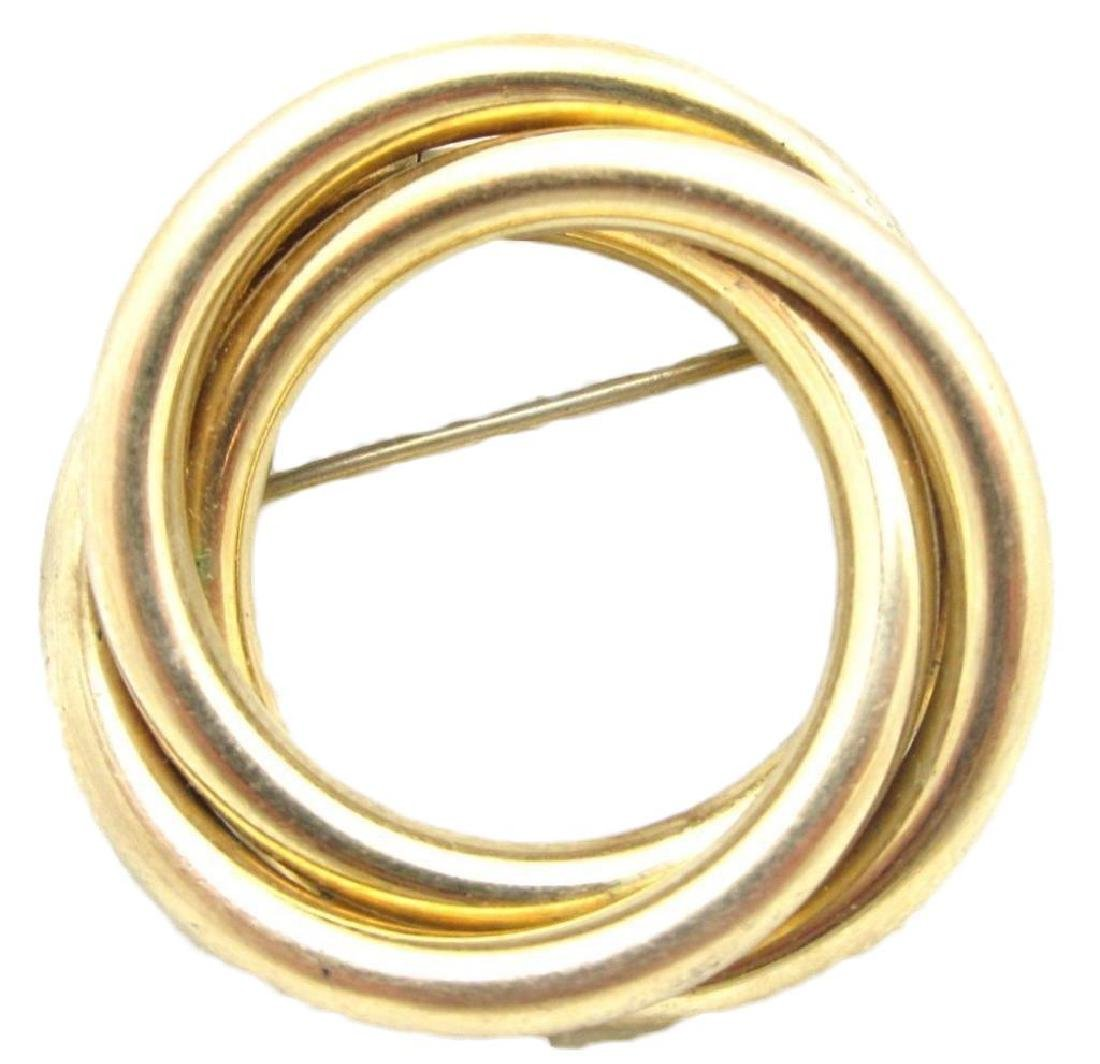 Vintage Signed 12kt Gold Filled Circle Brooch/Pin