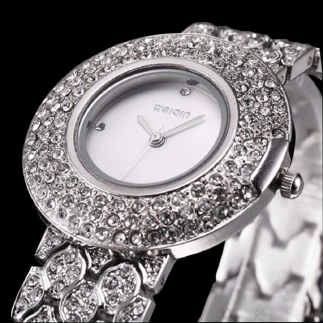 Women's Stainless Steel & Crystal Quartz Bracelet Wrist