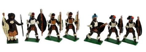 Vintage Sets British Metal Figures Zulu Warriors