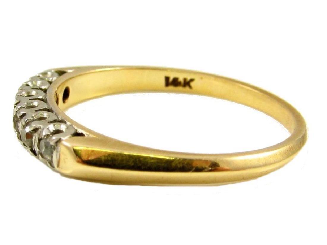 14kt Yellow Gold & Diamond Wedding Band Ring