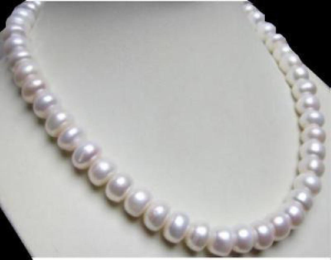 "Baroque 18"" Aaa 11 Mm South Sea Natural White Pearl"