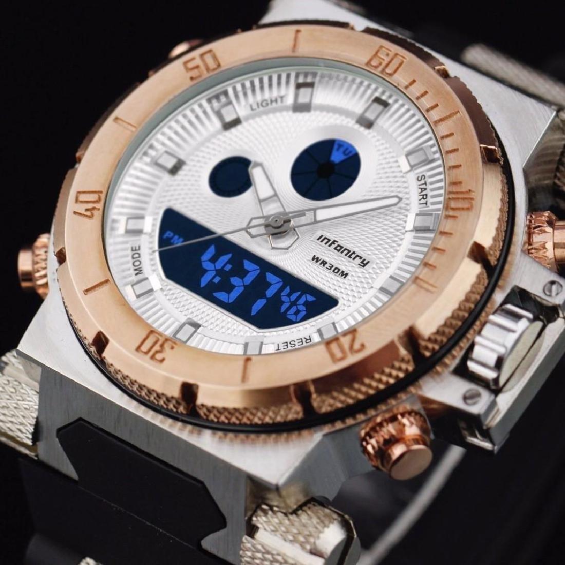 Mens Digital Quartz Wrist Watch Chronograph Date Sport