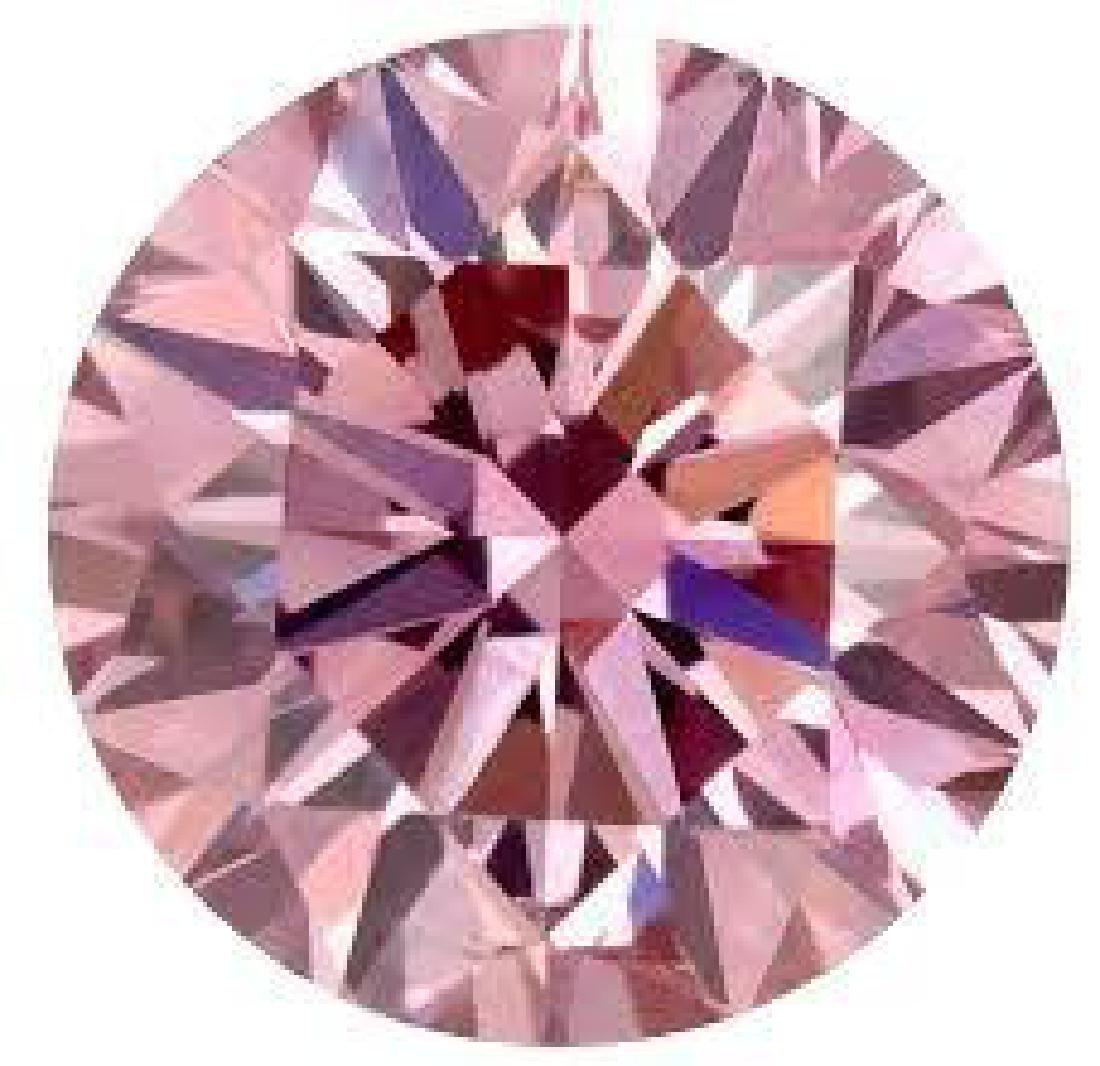 6ct Round Brilliant Cut Pink BIANCO Diamond