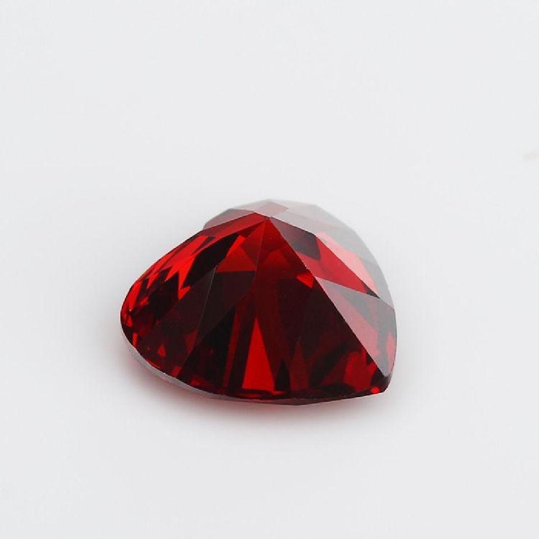 Heart Garnet VVS Bianco 6AAAAAA Diamond 11*11mm - 3
