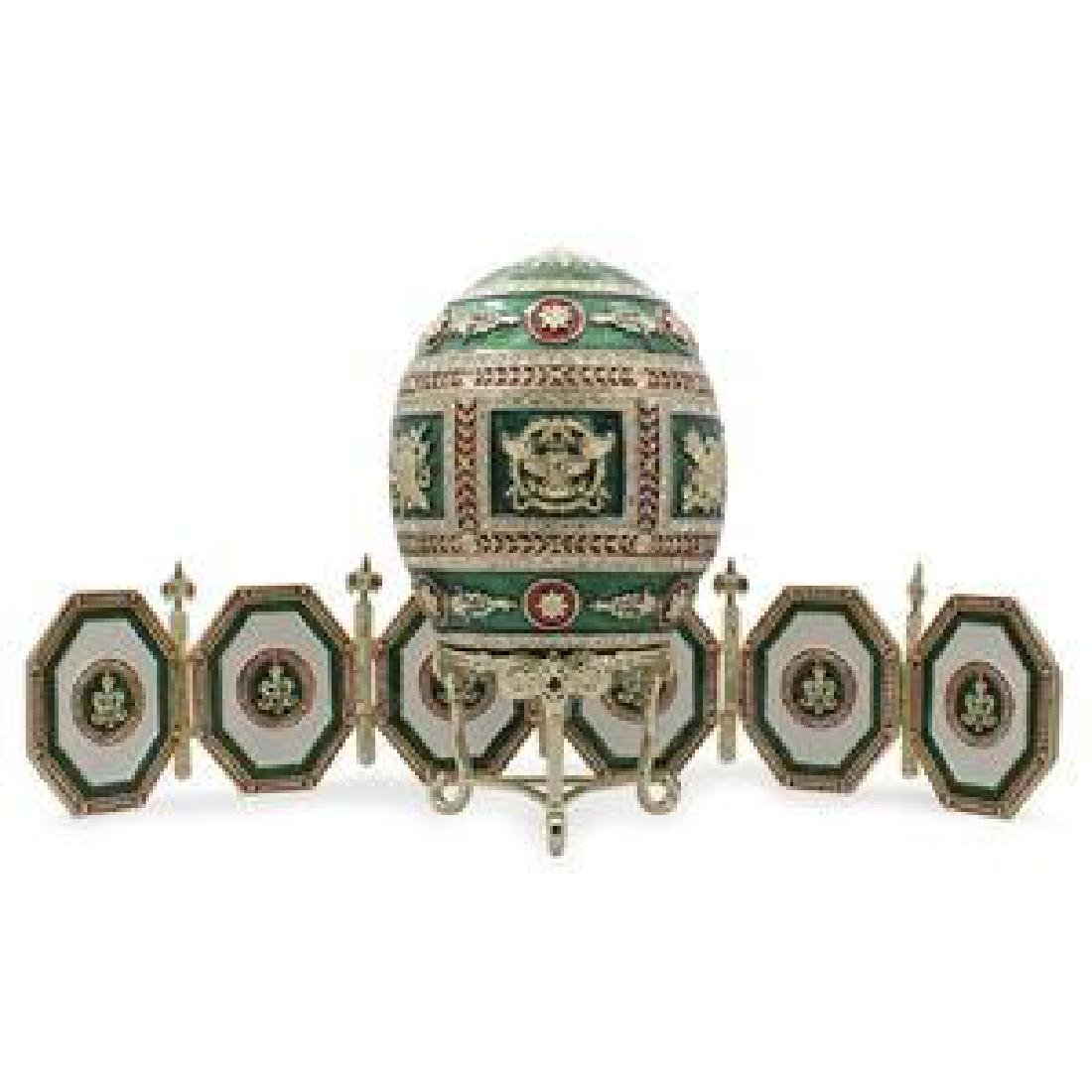 1912 Napoleonic Russian Faberge Egg with Picture Frames