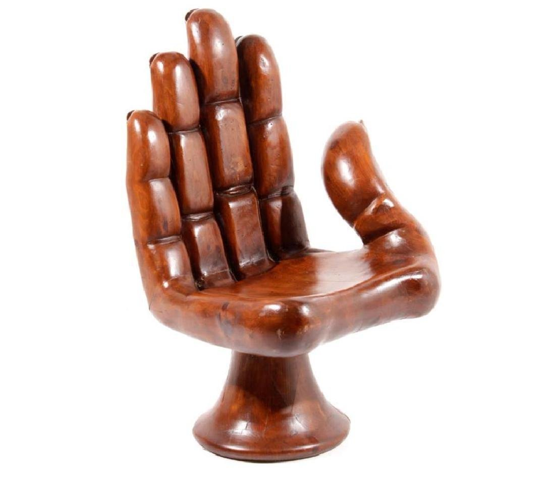 Carved Wooden Hand Chair