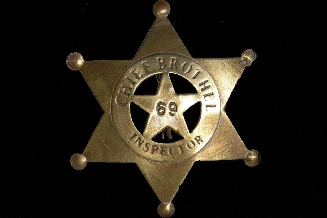 Chief Brothel Inspector Replica Sheriff Western Badge