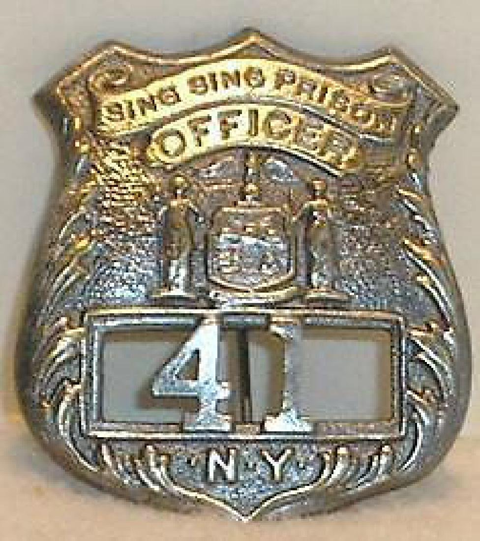 Sing Sing Prison New York NY Guard Police Badge Sheriff