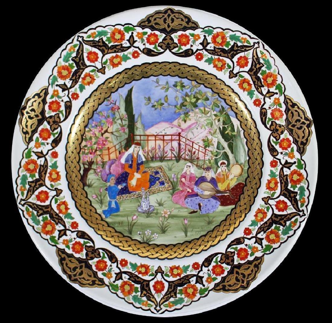 Eski Harem Yonca Gursoy Painted Porcelain Charger