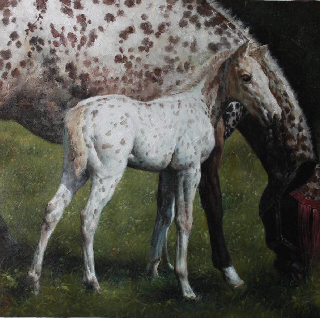 Original Oil on Canvas Horse/Colt Series, signed,