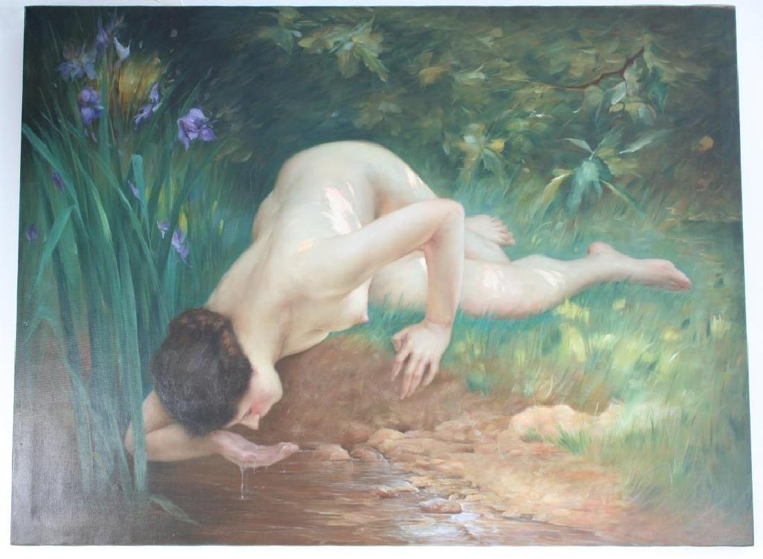 Signed Oil on Canvas Painting, The Spring