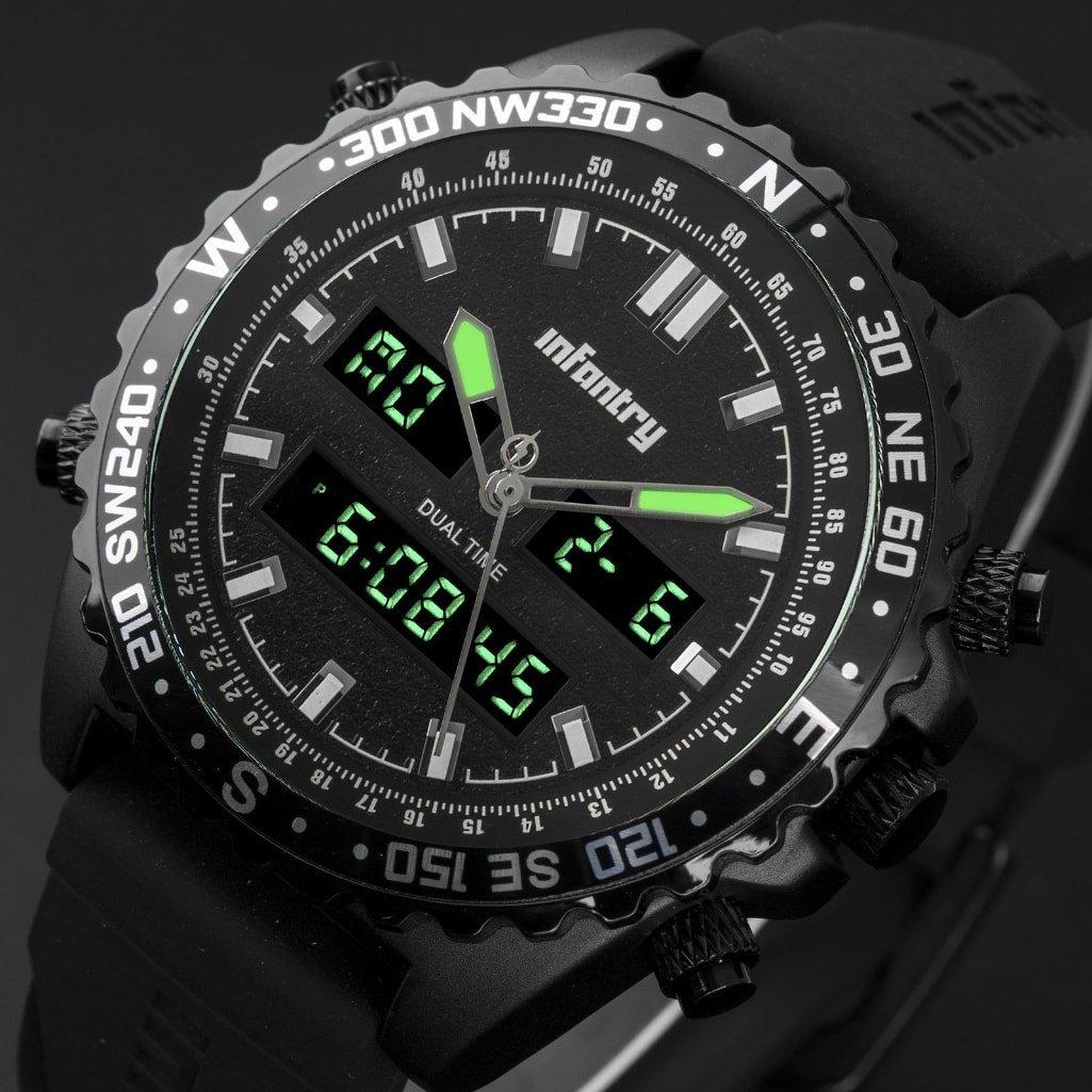 Mens LED Digital Quartz Wrist Watch Military Sport