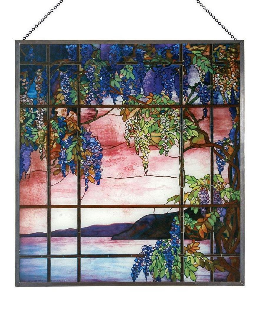 Tiffany View of Oyster Bay Stained Glass Panel