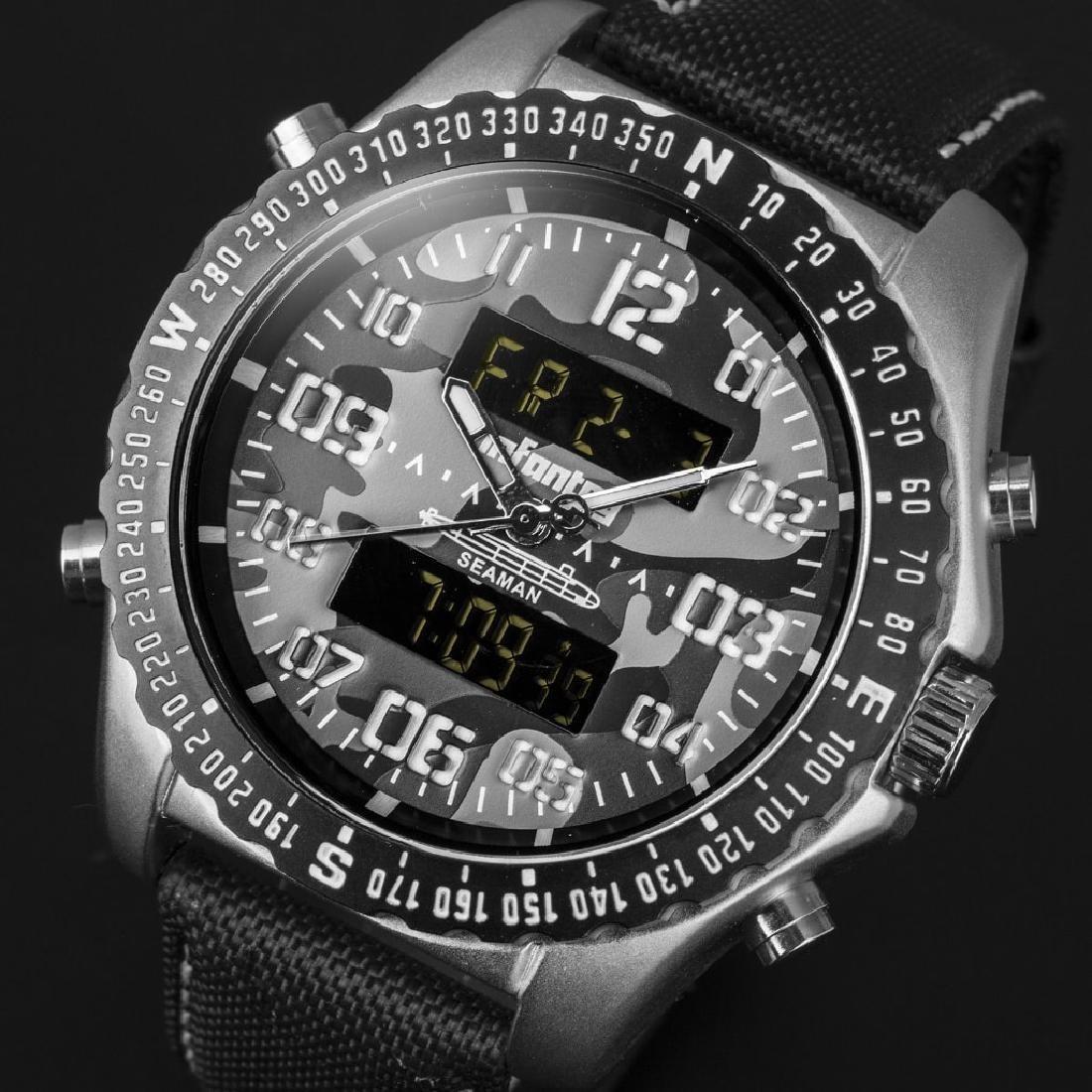 INFANTRY Mens Digital Quartz Wrist Watch Military Sport