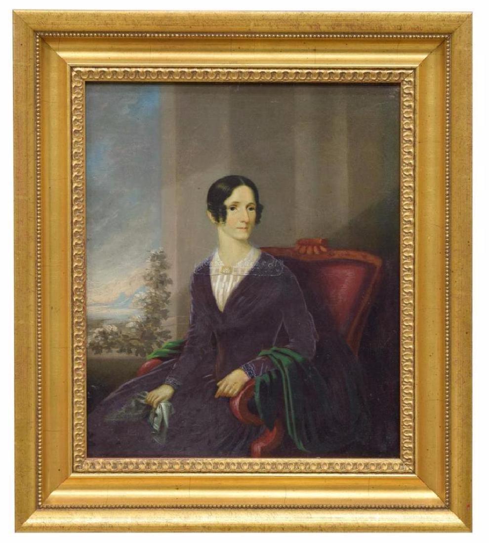 American School Portrait, Lady In Red Chair
