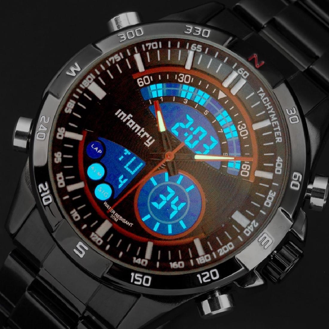 INFANTRY Mens LED Digital Quartz Wrist Watch Aviator