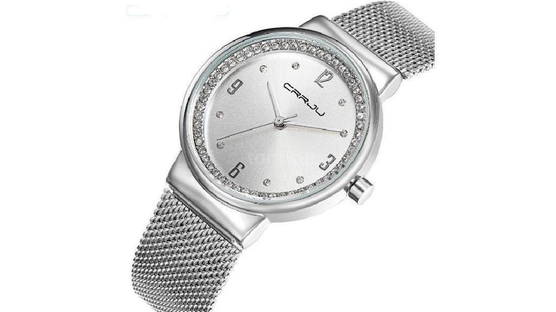Quartz Simplicity Watch Diamond Stainless Steel Woman