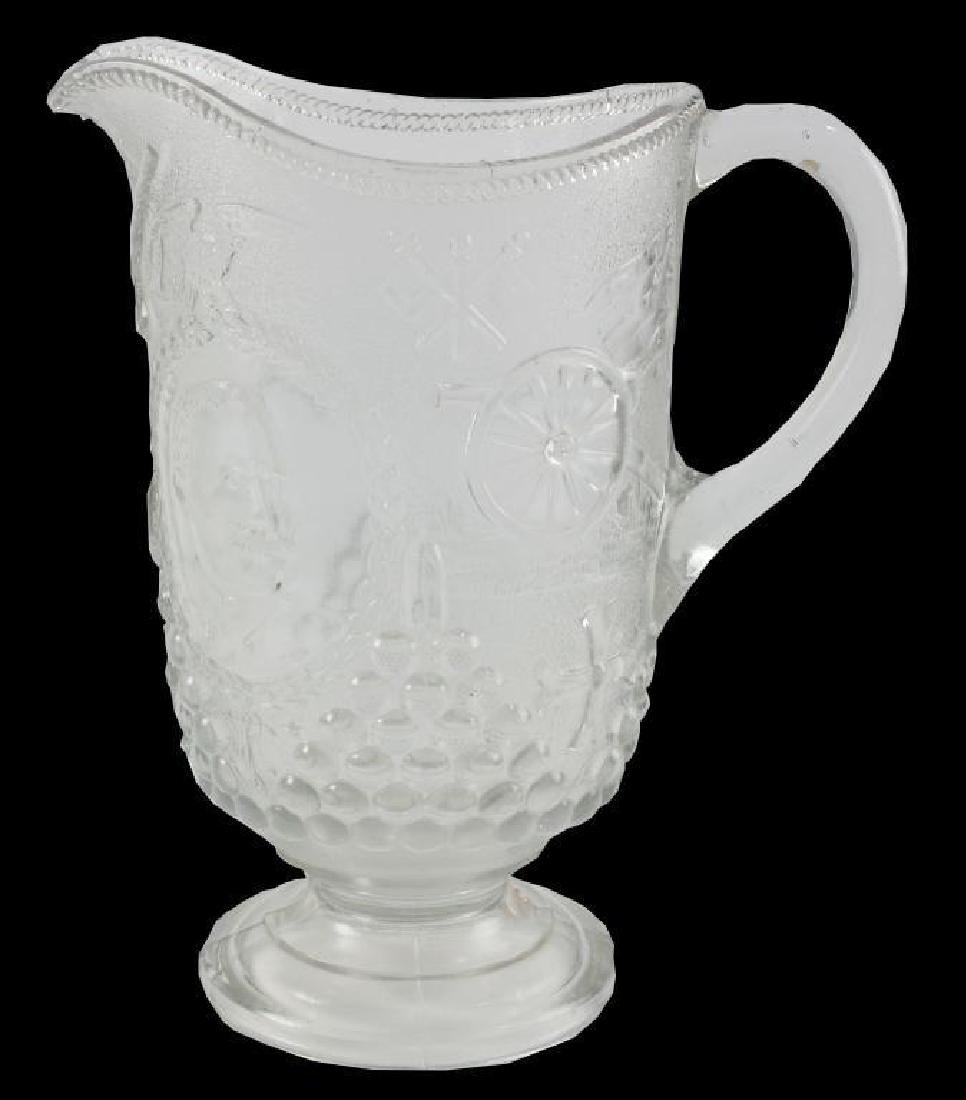 c1890 Spanish American War Pressed Glass Pitcher