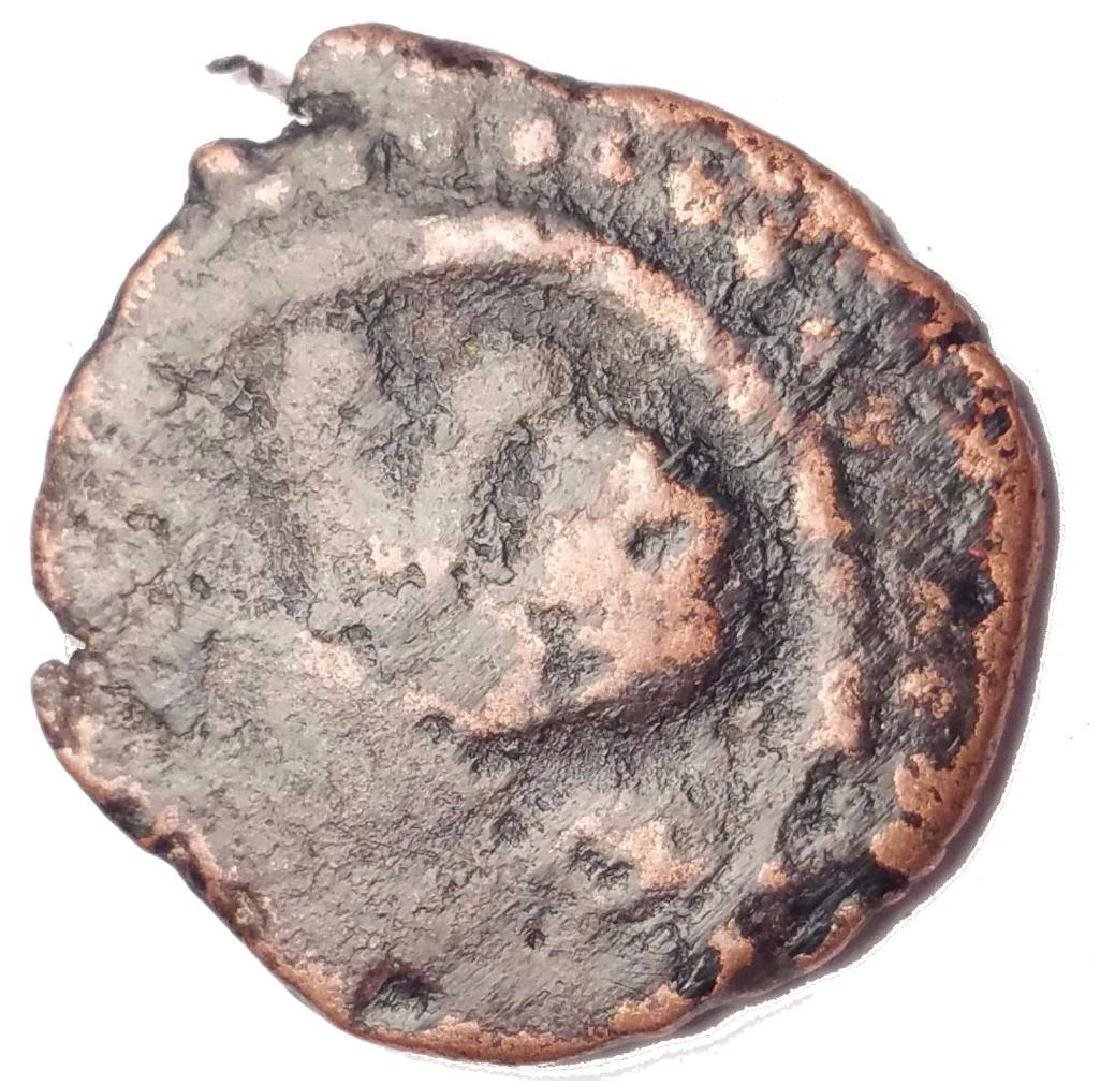 Ancient Bronze Coin 16 Mm Scu 76y - 2