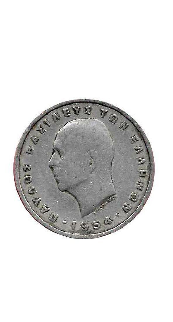 Greece Greek Km83 1954 Old Pre-euro 5 Drachmai Coin