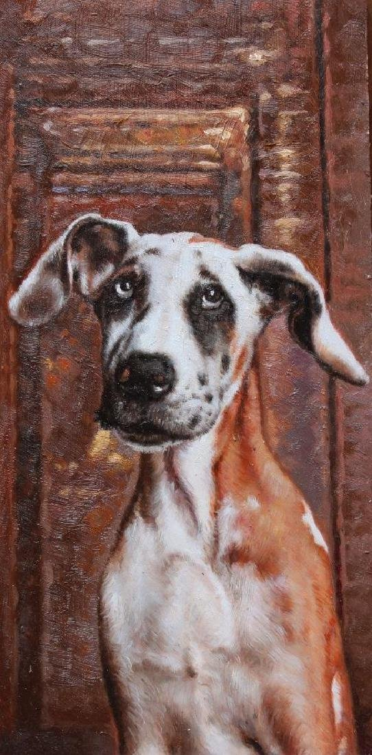 Hunting Dog Oil Painting