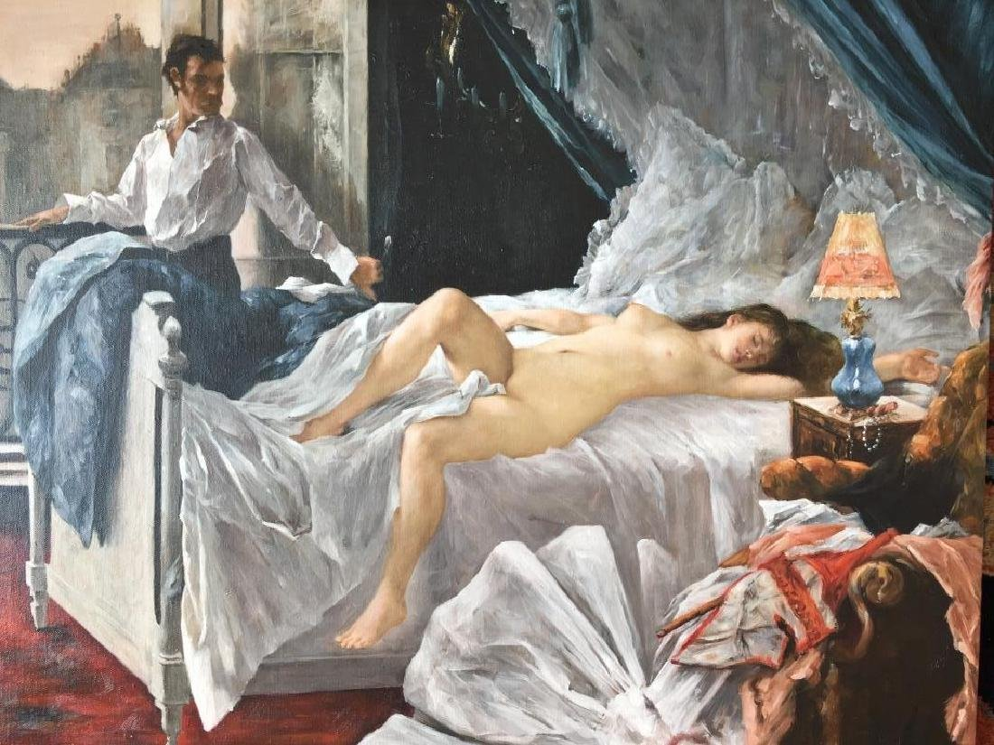 Student of Gervex, Courtesan Boudoir Oil Painting