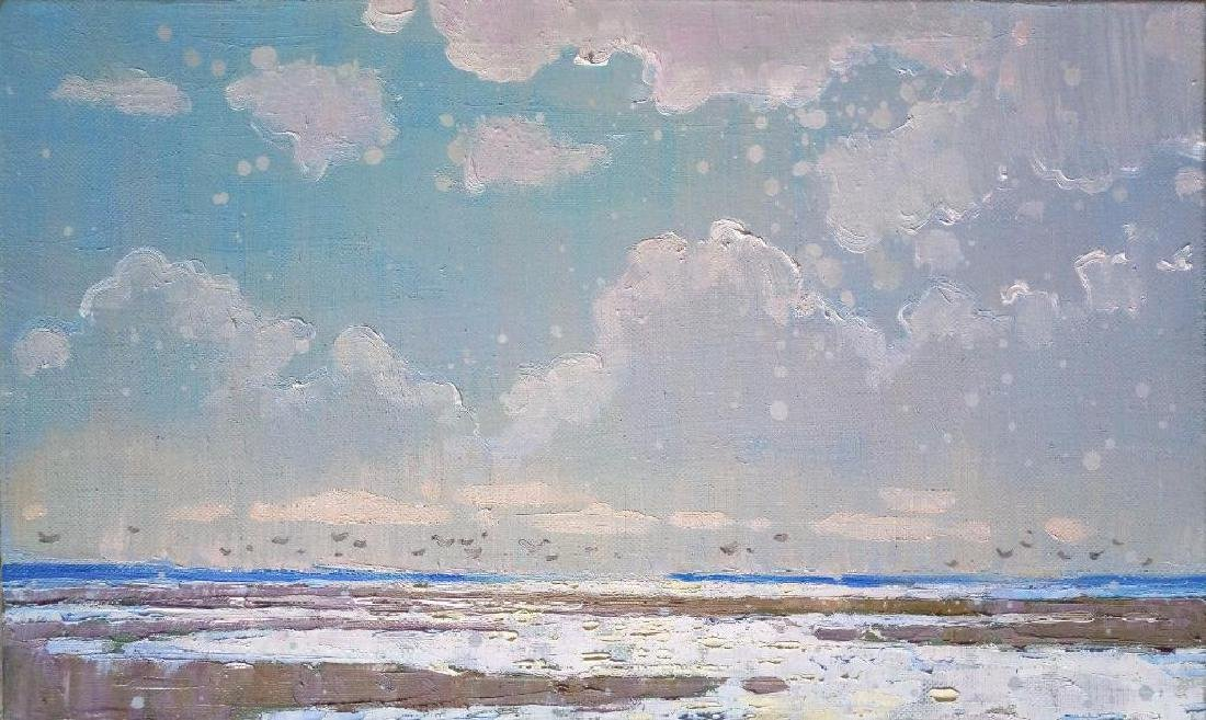 Impressionism Oil Painting Clouds Plein Air Summer