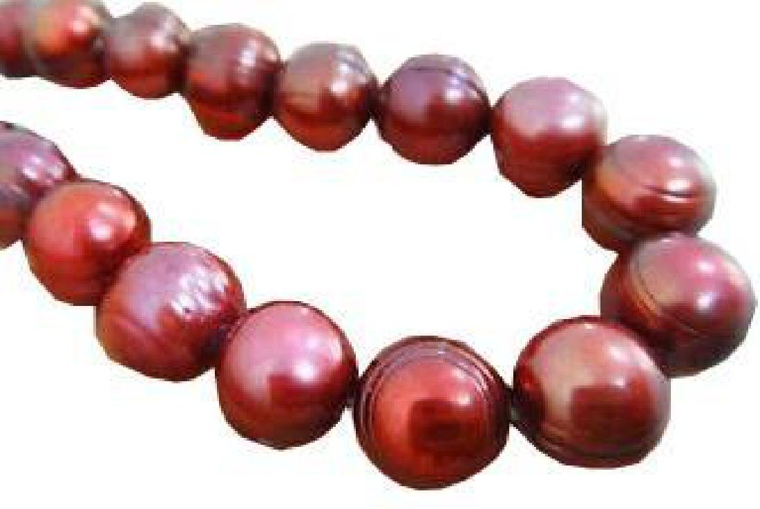 "12-13mm Baroque Chocolate Pearl Necklace18"" 14k"