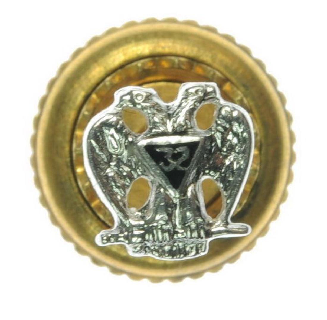 14kt Gold 32nd Degree Masonic Lapel Pin