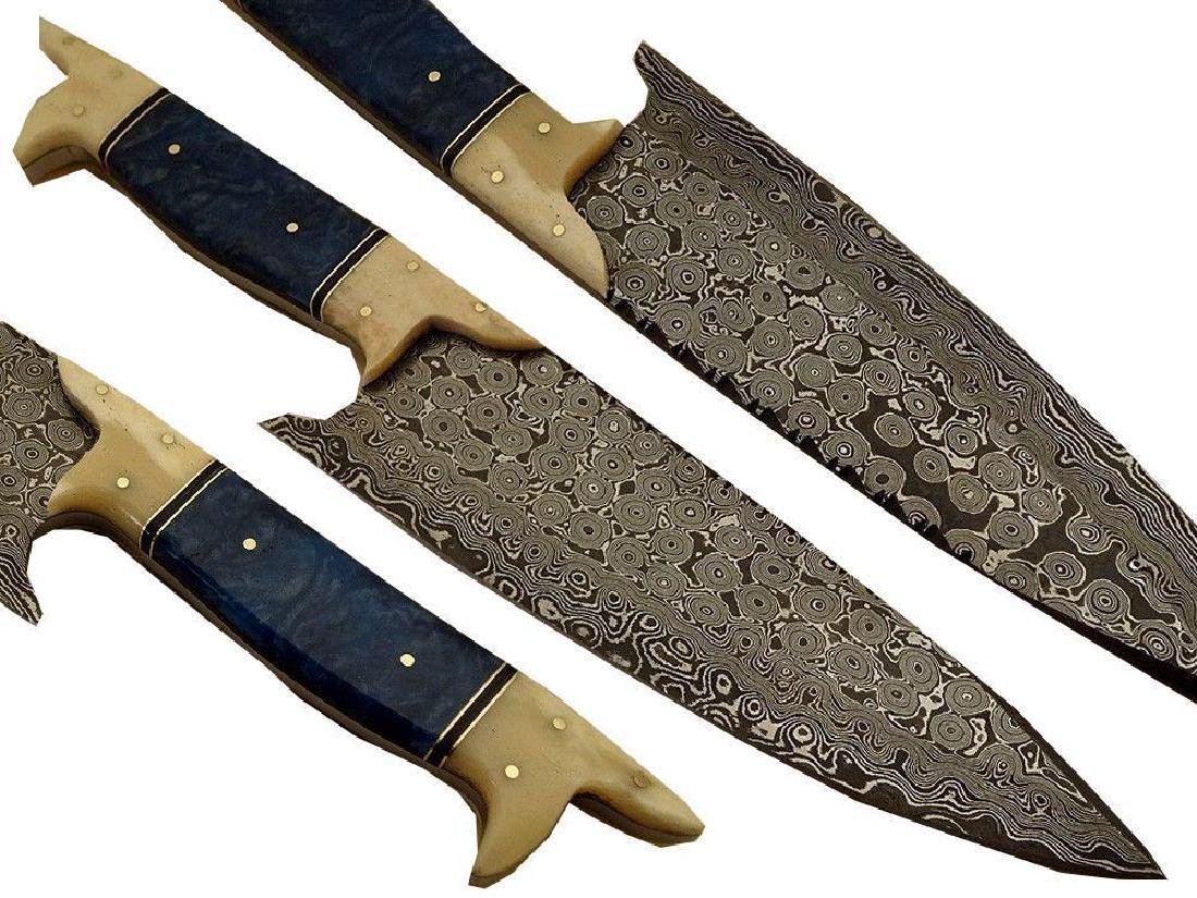 Hand Made Damascus Steel Kitchen, Hunting, Chef Knife