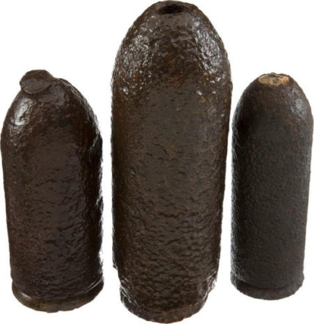 3 Excavated Civil War Parrott Projectiles