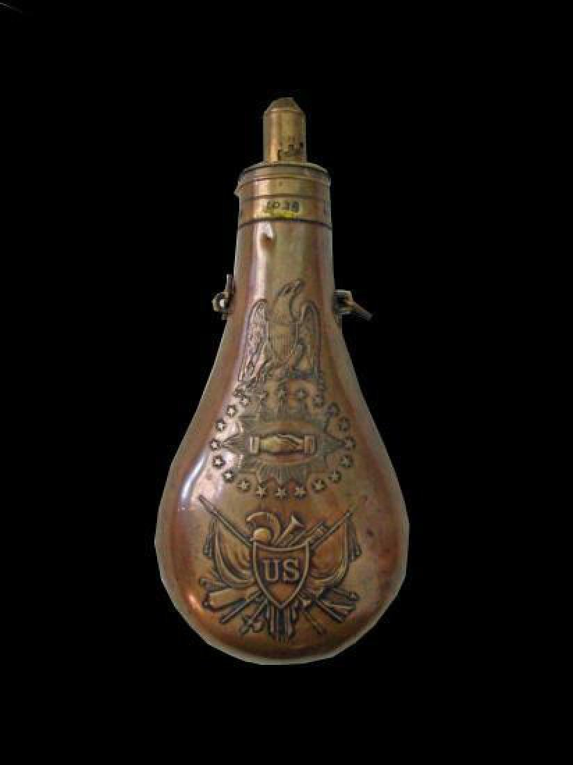 Rare Museum 1850 Peace Powder Flask