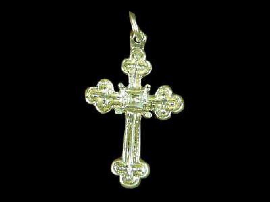 Cross Medieval Ciondolo Argento 925