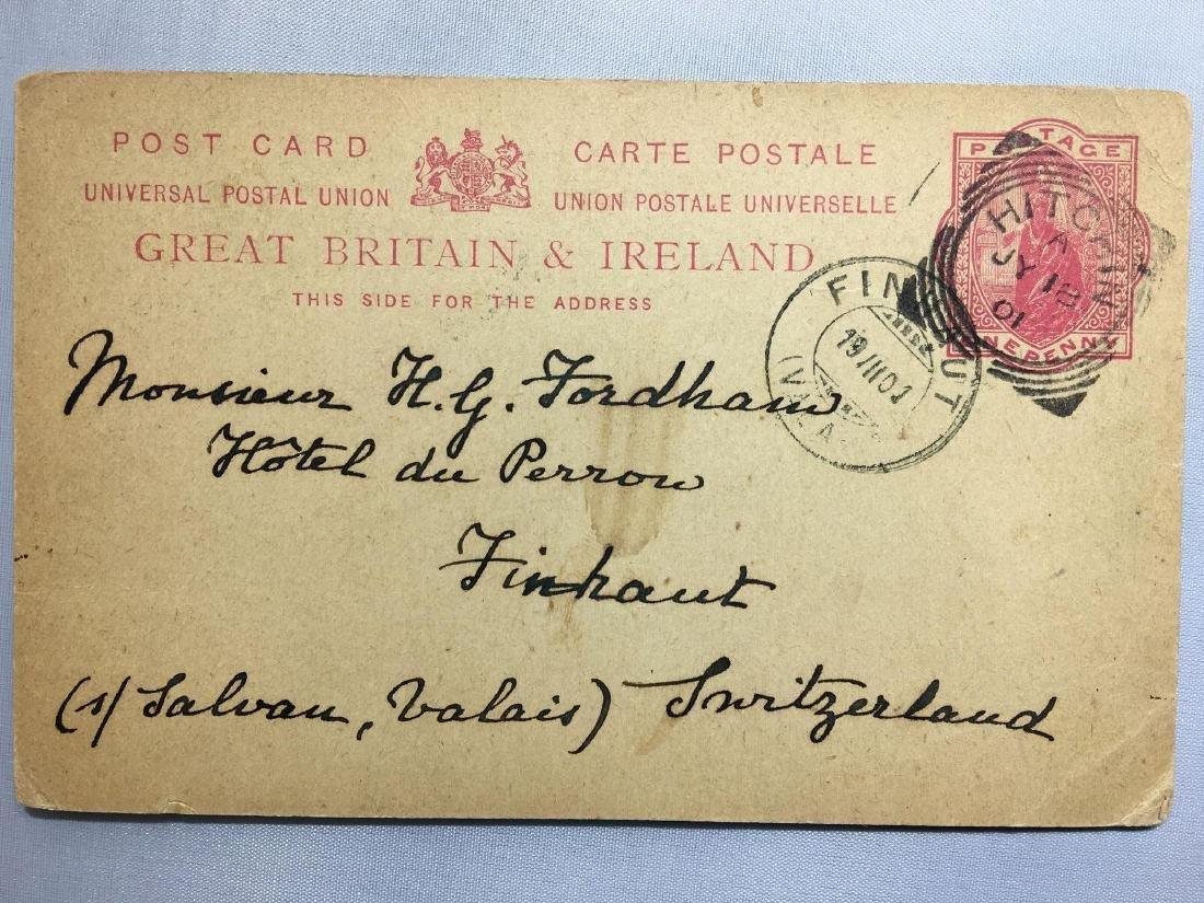 1800s London Original Postmarked Handwritten Postcard