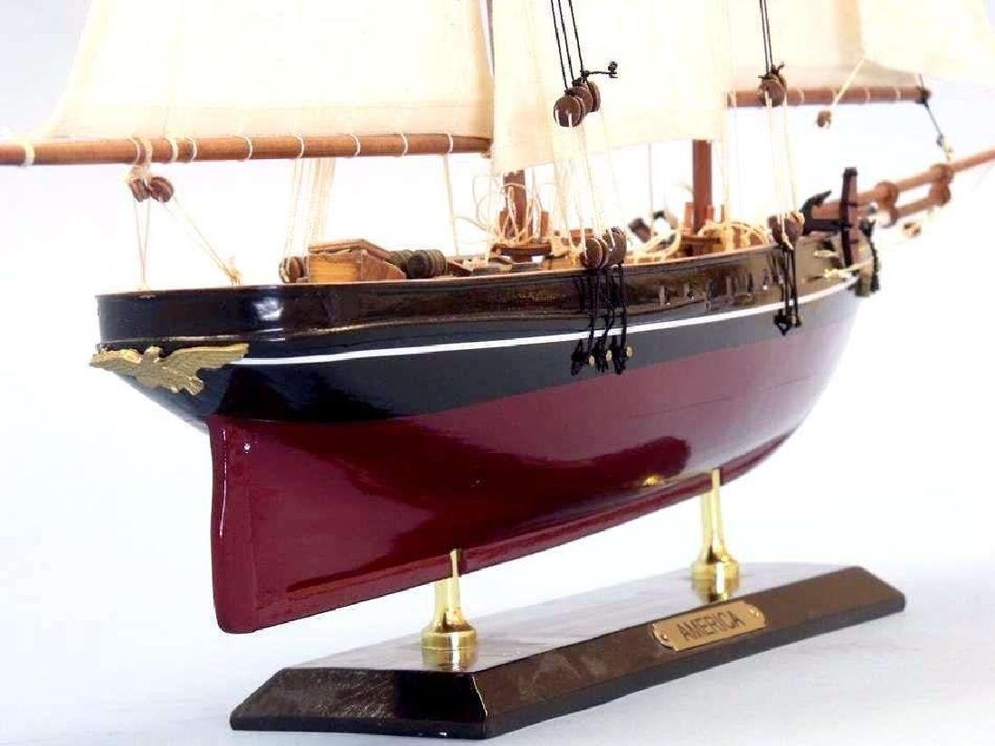 """Wooden America Limited Model Sailboat 24"""""""