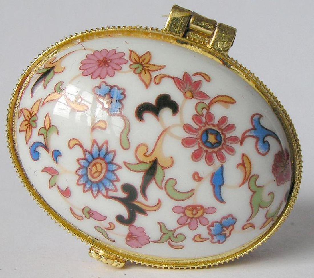 Heart-shaped Pink Porcelain Jewel Trinket Box - 3