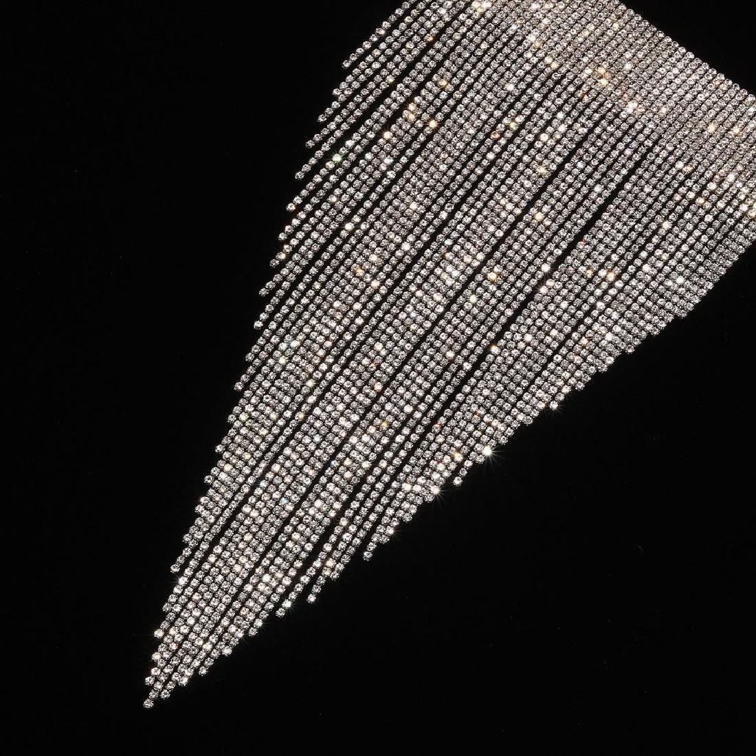 Holylove Charm Rhinestone Tassels Choker Collar Pendant - 3