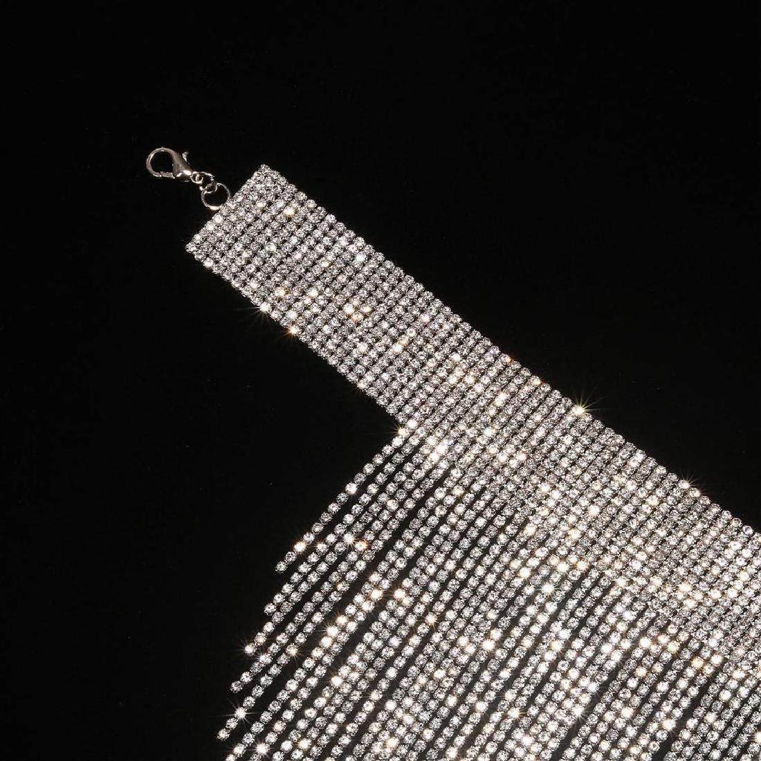Holylove Charm Rhinestone Tassels Choker Collar Pendant - 4