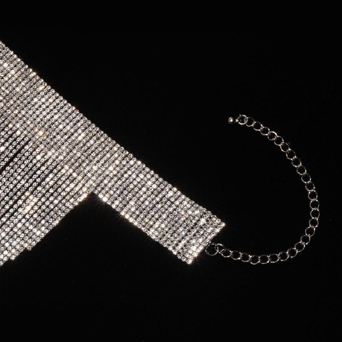Holylove Charm Rhinestone Tassels Choker Collar Pendant - 5