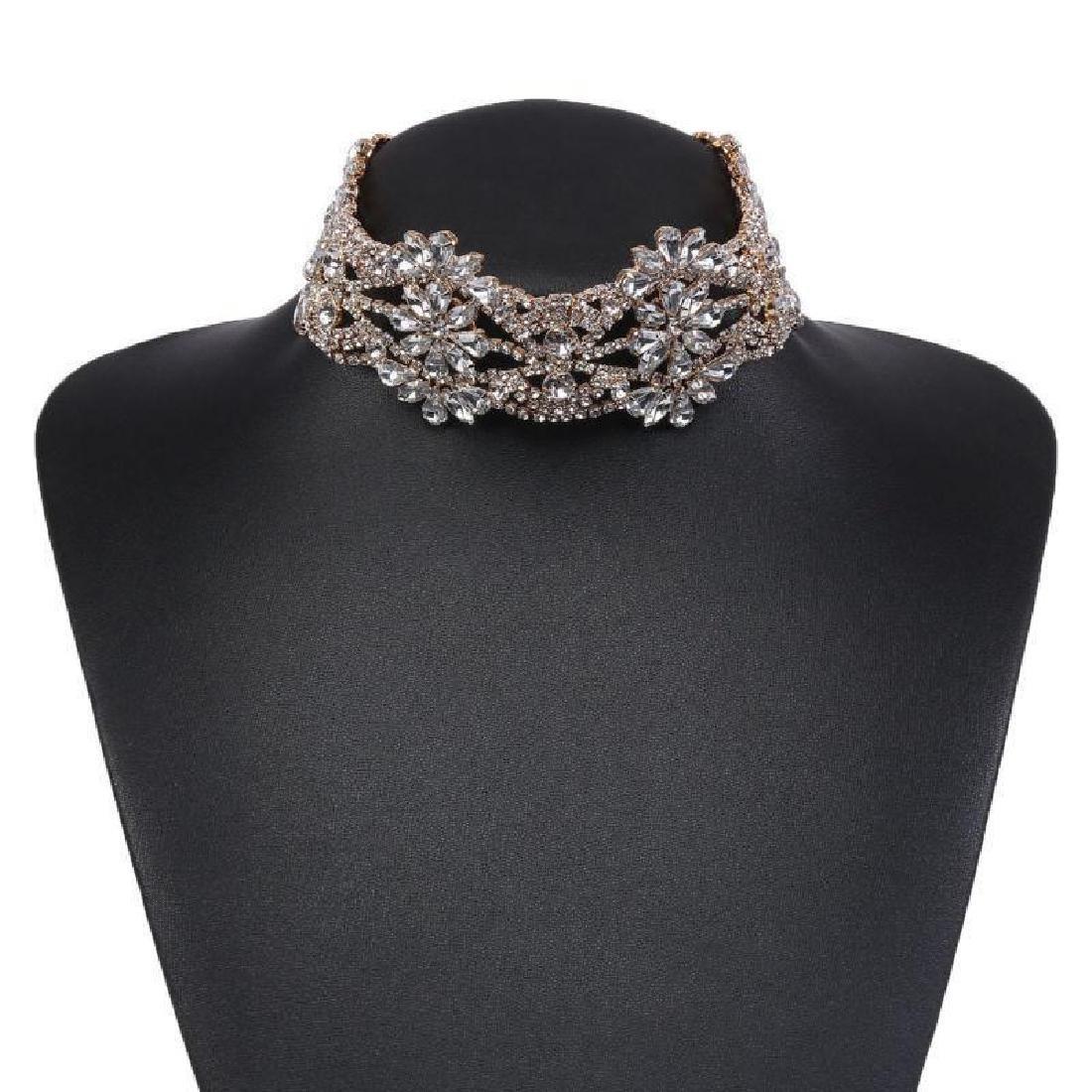 Holylove Rhinestone Crystal Charm Wide Collar Bib - 2