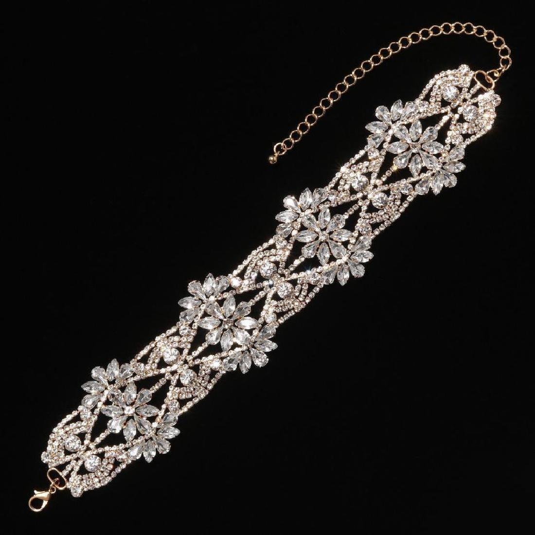 Holylove Rhinestone Crystal Charm Wide Collar Bib - 3