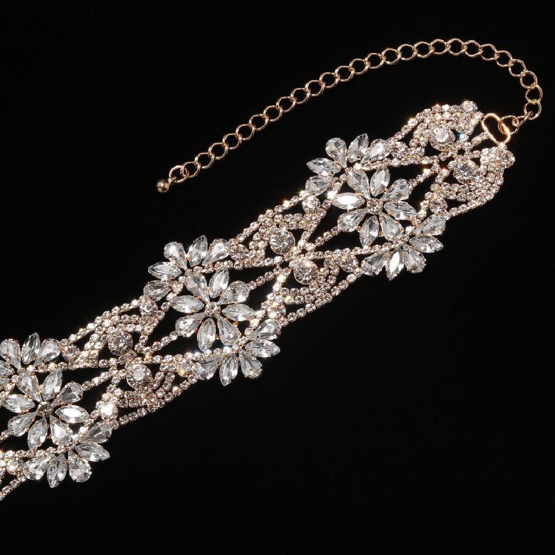 Holylove Rhinestone Crystal Charm Wide Collar Bib - 4