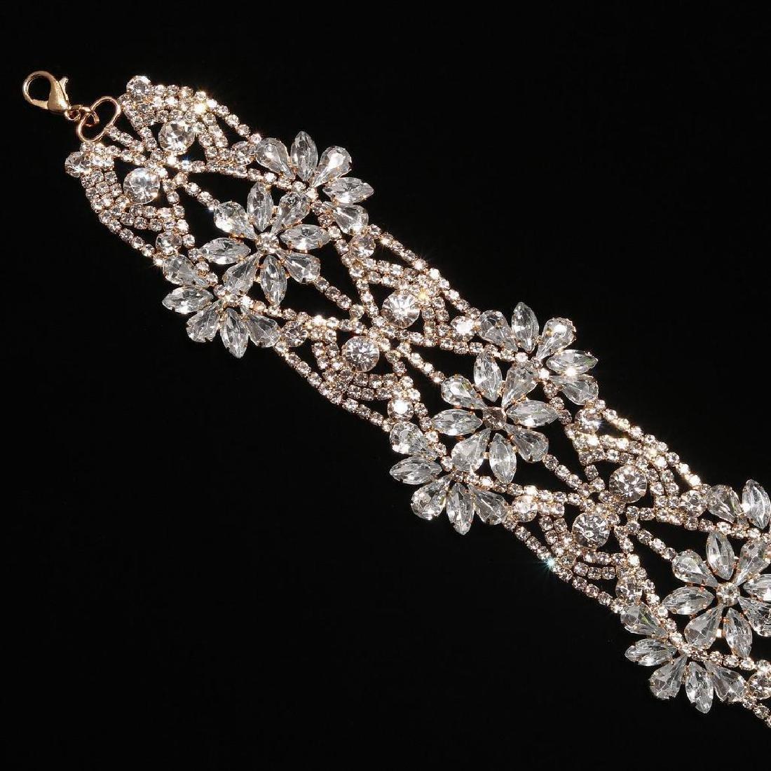Holylove Rhinestone Crystal Charm Wide Collar Bib - 5