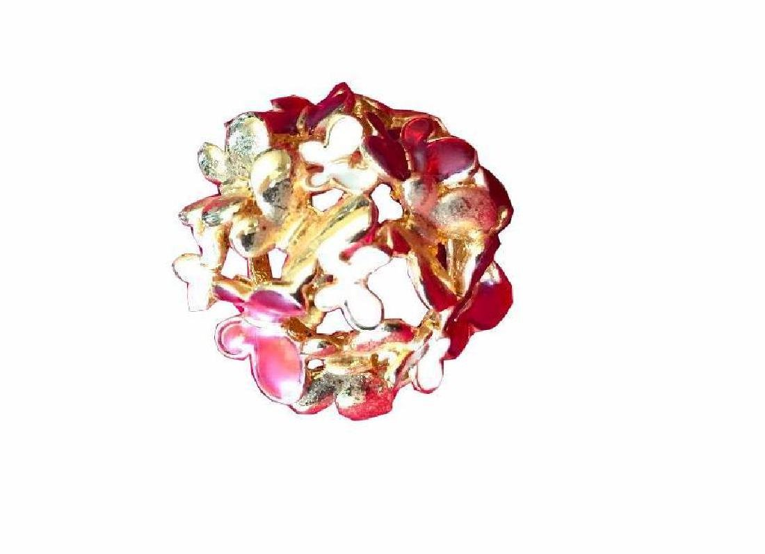 Enamel Gold Butterfly Kaleidoscope Ring
