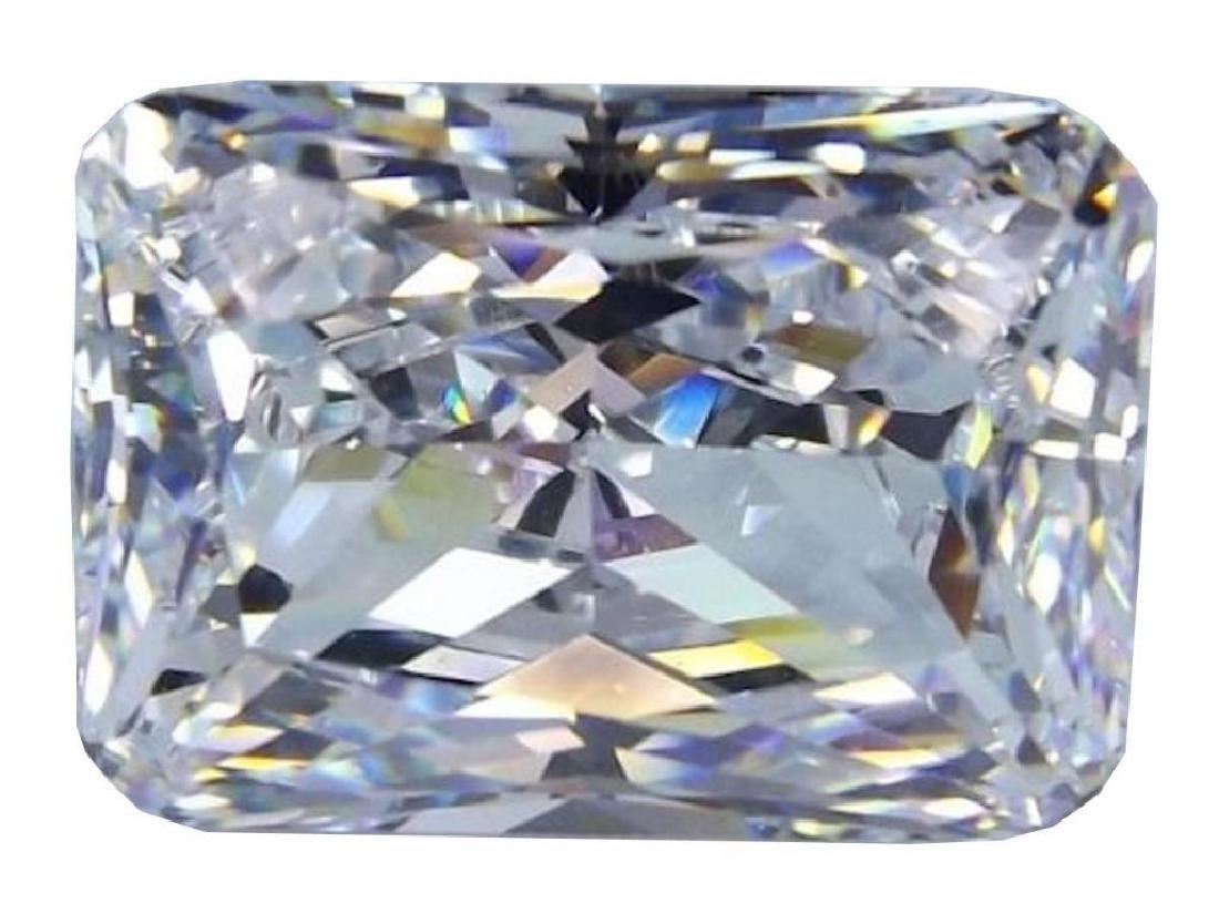 6ct Octagon Cut BIANCO Diamond