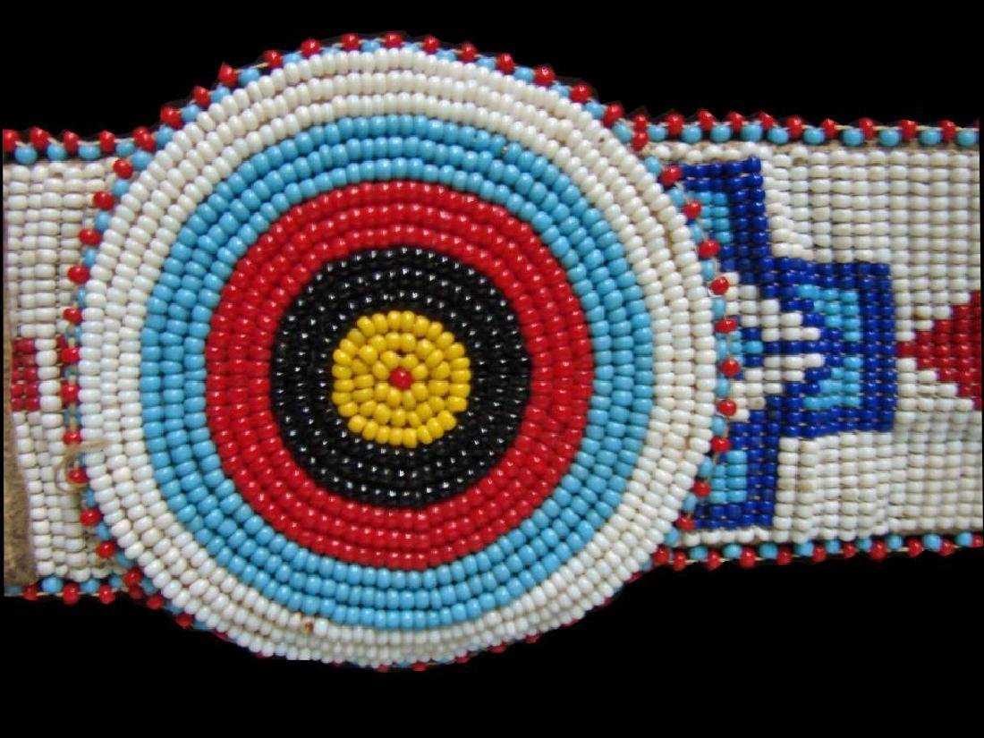 Vintage Native American Beaded Belt & Awl Bag - 5