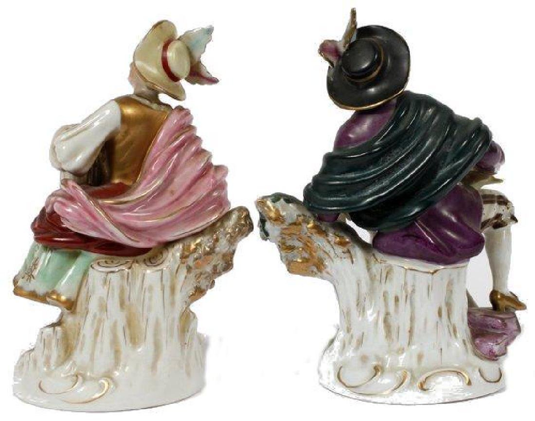 Pair of Early 19thc German Porcelain Figurines - 2
